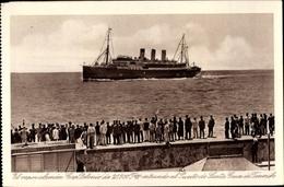 Cp Dampfer Cap Polonio Der HSDG, Entrando Al Puerto De Santa Cruz De Tenerife - Schiffe