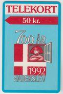 DENMARK - Haderslev 700 Years , Tele Soenderjylland 50KR, 09/92, Tirage  5.000, Used - Dänemark