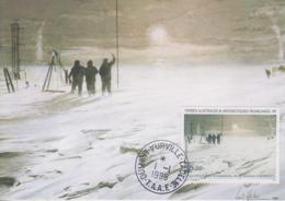 Carte  Maximum  1er  Jour   T.A.A.F   L' Au -revoir  Des  Hivernants  De  La  Station  CHARCOT   1995 - Covers & Documents