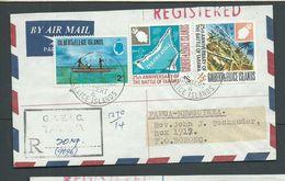 Gilbert & Ellice Islands 1971 Registered Airmail Cover To Boroko PNG - Îles Gilbert Et Ellice (...-1979)