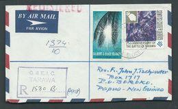 Gilbert & Ellice Islands 24th Nov 1971 Registered Airmail Cover To Boroko PNG - Îles Gilbert Et Ellice (...-1979)