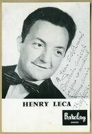 Henri Leca (1914-1981) - Compositeur Et Pianiste Français - Photo Dédicacée - Handtekening