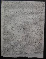 1742 Compiègne, Document Judiciaire à Déchiffrer à Propos D'Antoine Saiger, Marchand, écriture Compliquéee - Manuscripten