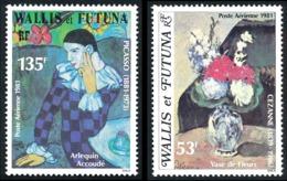 WALLIS ET FUTUNA 1981 - Yv. PA 110 Et 111 **   Cote= 9,00 EUR - Paul Césanne Et Pablo Picasso (2 Val.)  ..Réf.W&F22953 - Poste Aérienne