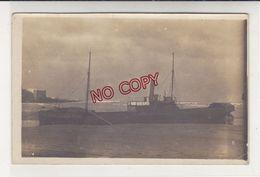 Carte Photo Navire Bateau Cargo Le Sarp échoué Rabat Maroc 1913 - Handel