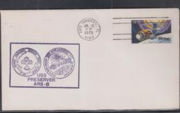 SPACE - USA - 1975 - USS PRESERVER APOLLO RECOVERY  COVER , WITH CAPE CANAVERAL JUL 15 POSTMARK - Collections (without Album)