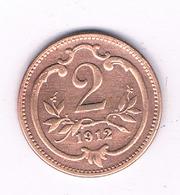 2  HELLER 1912  OOSTENRIJK /6452/ - Austria