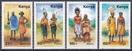 Kenia Kenya 2005 Kutlur Culture Folklore Brauchtum Kostüme Costumes Gabbra Pokot  Meru Digo, Mi. 781-4 ** - Kenia (1963-...)