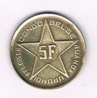 5 FRANCS  1952 RUANDA  URUNDI  BELGISCH CONGO /6454/ - Congo (Belgian) & Ruanda-Urundi