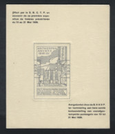 België 1939 - Blaadje Antwerpen - St Niklaaskapel - Privé Uitgifte Nav éérste Tentoonstelling Europa Voorafgestempelde - Precancels