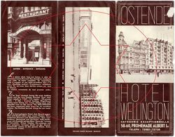 Hotel Wellington. Brochure (a+b) Oostende - Ostende (Kaft 3) - Folletos Turísticos
