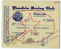 Flandria Boxing Club. Oostende - Ostende (Kaft 3) - Biglietti D'ingresso