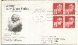 ESTADOS UNIDOS USA NEW YORK 1940 SAMUEL MORSE TELEGRAFO TELEGRAPH TELECOM - Telecom