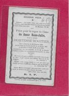 HORTENSE WAUTIER1833-1878- JAUCHE-GEND-GAND - Images Religieuses