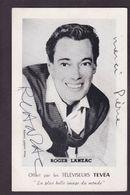CPA Autographe Signature à L'encre Roger LANZAC - Handtekening