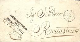 "1858- Lettre En Franchise De NICE "" IL COMMANDANTE MILITARE / DELLA / PROVINCIA DI NIZZA "" - Marcophilie (Lettres)"