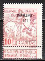 106**  Caritas Surchargé Charleroi 1911 - Bonne Valeur - MNH** - LOOK!!!! - 1910-1911 Caritas