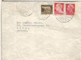 ITALIA CC A AUSTRIA BORGOMAGGIORE POLA 1938 - Storia Postale