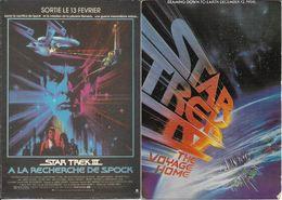 AFFICHES SUR CARTE - STAR TREK - LOT DE 2 CARTES -STAR TREK IV THE VOYAGE HOME-STAR TREK III A LA RECHERCHE DE SPOCK - Affiches Sur Carte