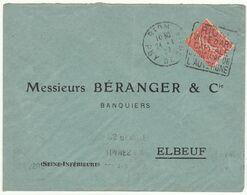 ESC 50c Semeuse O. Daguin Riom Puy De Dôme 1930 - Postmark Collection (Covers)
