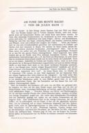 716 Julius Mayr Monte Baldo Lago Di GARDA Artikel Von 1908 !! - Other