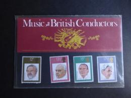 GREAT BRITAIN SG 1130-33 FDC BRITISH CONDUCTORS PRESENTATION PACK - Hojas & Múltiples