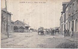 Dépt 62 - SAMER - Place De La Gare - Animée, Charrettes - Samer