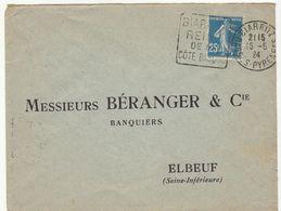 ESC 25c Semeuse O. Daguin Biarritz Basses Pyrénées 1924 - 1921-1960: Période Moderne