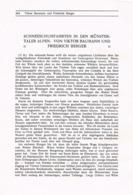 724 Baumann Berger Skifahrten Münstertal Wintersport Artikel Von 1910 !! - Winter Sports