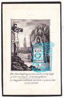 DP Fransisca Soph. VanRaes 49j. ° 1793 † Geluwe Wervik 1842 X Eugenius Jac. Reynaert  'Koster Tot Gheluwe' - Images Religieuses