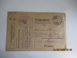 Limburg Lahn Camp De Prisonnier Prisonnier Enveloppe Feldpostbrief - Guerra De 1914-18