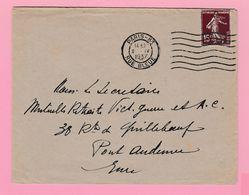 SE-2 Semeuse 15c  Paris-83 Rue Bleue  2.4. 1937   Verso= 0 - 1906-38 Semeuse Camée