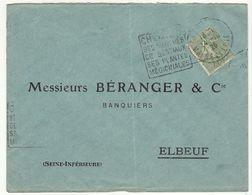 ESC 50c Semeuse O. Chemillé Maine Et Loire 1926 - Postmark Collection (Covers)