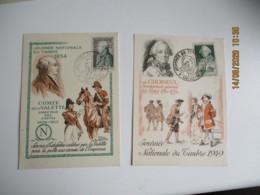 Lot De 7 C M De 1944 A 1960 Carte Maximum - Maximumkaarten