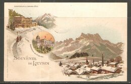 Carte P De 1901 ( Souvenir De Leysin / Sanatorium Du Grand Hôtel ) - VD Vaud