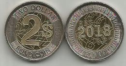 Zimbabwe 2 Dollar 2018. Bond Coin Bimetal UNC - Zimbabwe