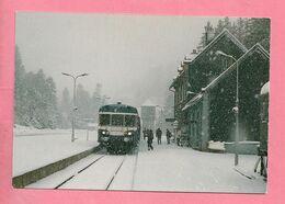 C.P. Lioran = Train  SNCF  Ligne  NEUSSARGUES -  AURILAC : Autorail X 2800 (  Alt. 1152 ) - Aurillac