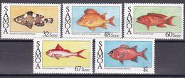 Samoa 1986 - Mi.Nr. 600 - 604 - Postfrisch MNH - Tiere Animals Fische Fishes - Vissen