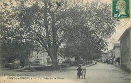 CPA 38 Isère Pont-de-Chéruy Un Coin De La Place - Pont-de-Chéruy