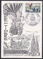 Carte Locale Journee Du Timbre 1955 Soissons - Storia Postale