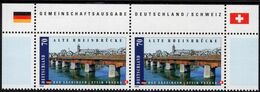 Germany - 2008 - Old Rhine Bridge In Bad Sackingen - Joint Issue With Switzerland - Mint Stamp Pair With Issue Title - BRD