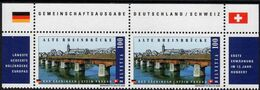 Switzerland - 2008 - Old Rhine Bridge In Stein Aargau - Joint Issue With Germany - Mint Stamp Pair With Issue Title - Schweiz