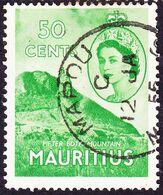 MAURITIUS 1953 QEII50cBright Green SG302FU - Maurice (...-1967)