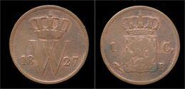 Netherlands Willem I 1 Cent 1827 - [ 3] 1815-… : Royaume Des Pays-Bas