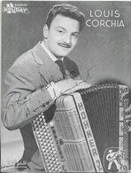 ACCORDEON - LOUIS CORCHIA AVEC SON ACCORDEON - DISQUES HOLIDAY - Carte Dédicacée -  CPSM Grand Format En Noir Et Blanc - Music And Musicians