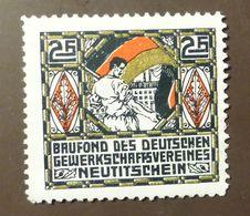 Werbemarke Cindarella Poster Stamp Gewerkschaft Verein Neutitschein  #Werbe1860 - Cinderellas