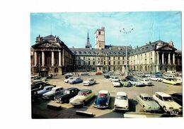 Cpm - 21 - COTE D'OR - DIJON - Le Palais Ducal - Voiture DS 2 CV CITROEN - AMI 6 PEUGEOT Simca Aronde P60 Frégate - Dijon