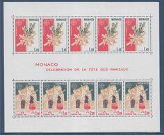 Europa 1981 Bloc Monaco N°19 Célébration De La Fête Des Rameaux 1273 Croix Tressée Et Branche De Buis 1274 Enfants - Europa-CEPT