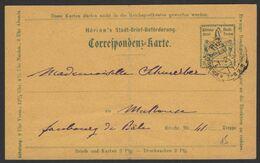 Haut Rhin Carte Postale Entier à 3pf De La Poste Locale De MULHOUSE De 1897 > MULHOUSE - Cartoline Postali E Su Commissione Privata TSC (ante 1995)