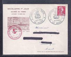 Enveloppe Locale Journee Du Timbre 1955 Le Havre Muller - FDC